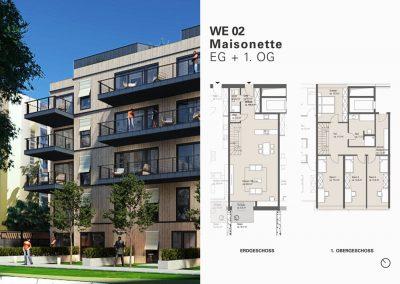 Großzügige Familien-Maisonette mit fünf Zimmern, Terrasse und Gärtchen