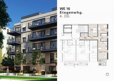 Charmante Wohnung mit drei Zimmern und hübschem Süd-West-Balkon