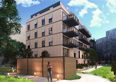 Baugruppe Schulstraße - Simulation Ansicht