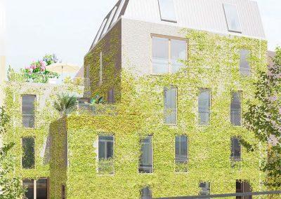 Baugemeinschaft Silber 80 - Simulation Ansicht Gartenhaus