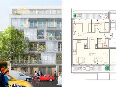 DG-Wohnung mit drei Zimmern und zwei Terrassen