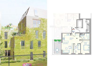 Sonnige Terrassenwohnung im ruhigen Gartenhaus