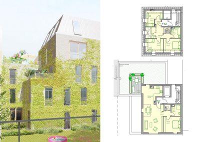 Großzügige DG-Maisonette mit großer Terrasse und 5 – 6 Zimmern