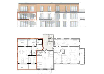 Gut geschnittene Vierzimmerwohnung mit großem West-Balkon